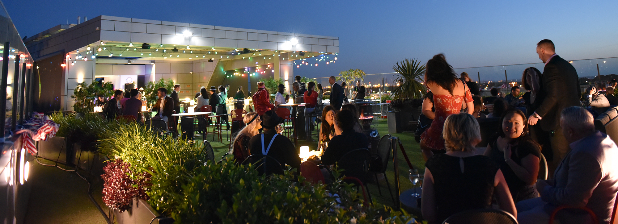 Rooftop Bar by Night